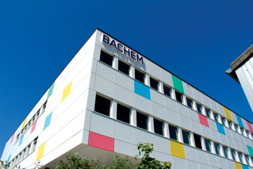 Bachem building at the Bubendorf manufacturing site