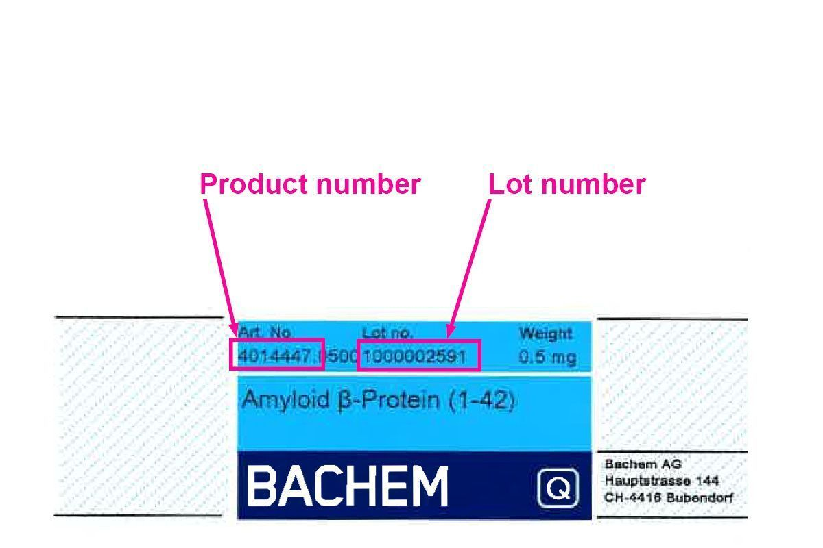 on product labels: