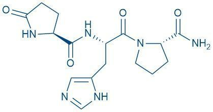 Chemical structure of a tripeptide thyrotropin-releasing hormone
