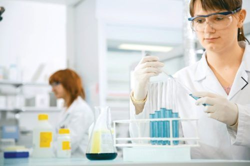 Woman in a laboratory