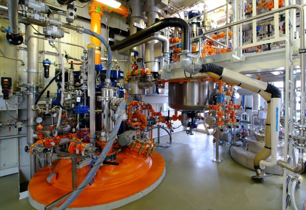 Picture of chemical reactors used in GMP manufacturing