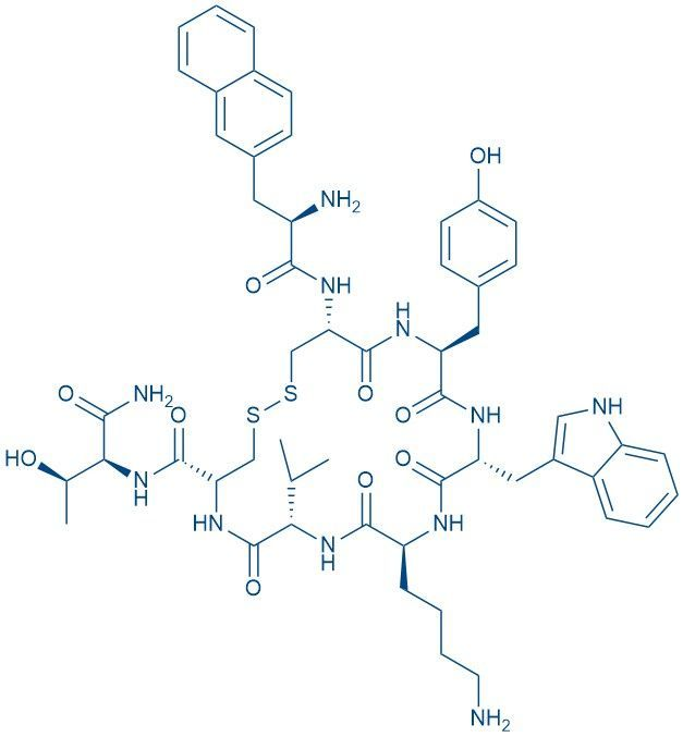 Chemical structure of lanreotide