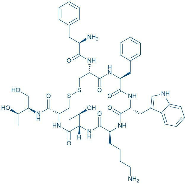 Chemical structure of octreotide